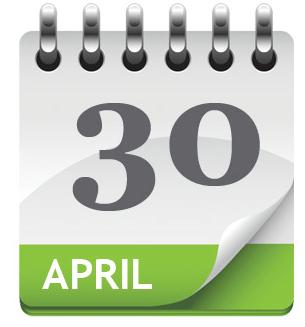 30 Apr