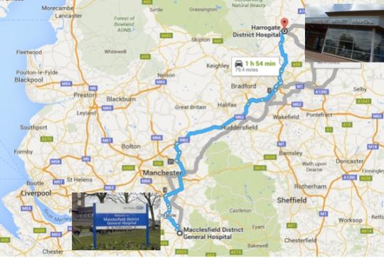 Macclesfield to Harrogate