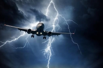 Plane in storm