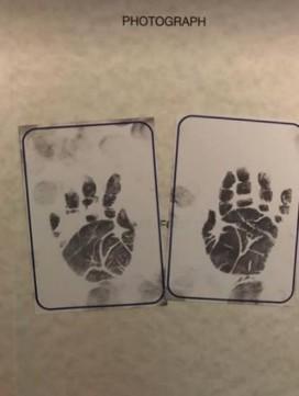 Henry's handprints