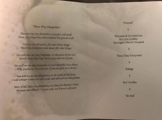 Order of service 2