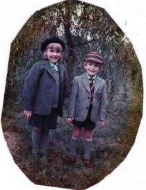 Chris first school uniform