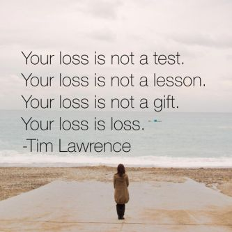 Your loss is not a test