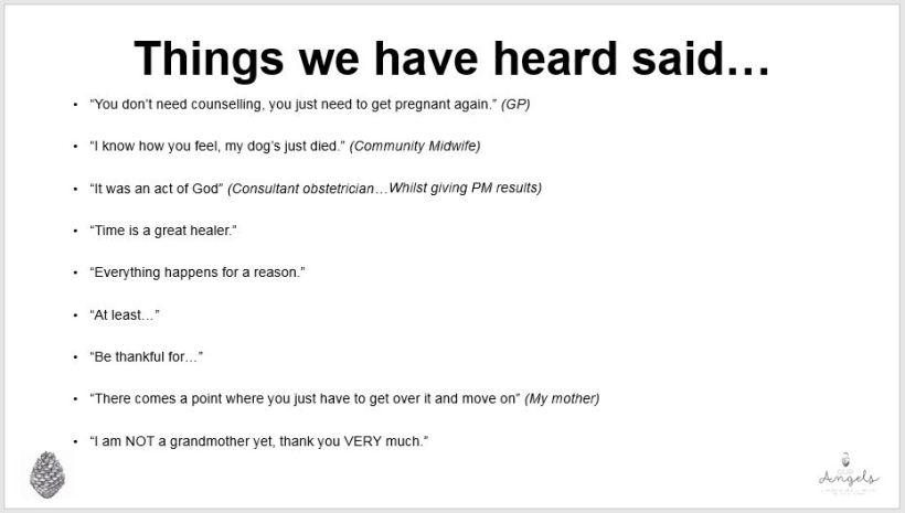 Things we have heard said